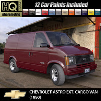 3d model chevrolet astro ext cargo van