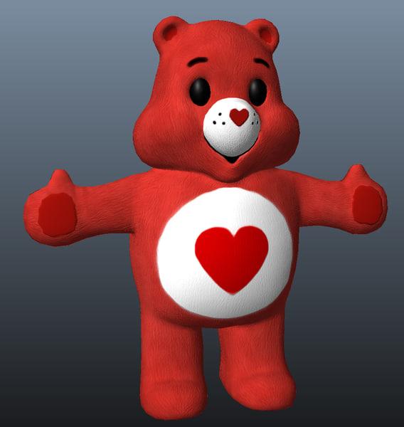 3d care bear model