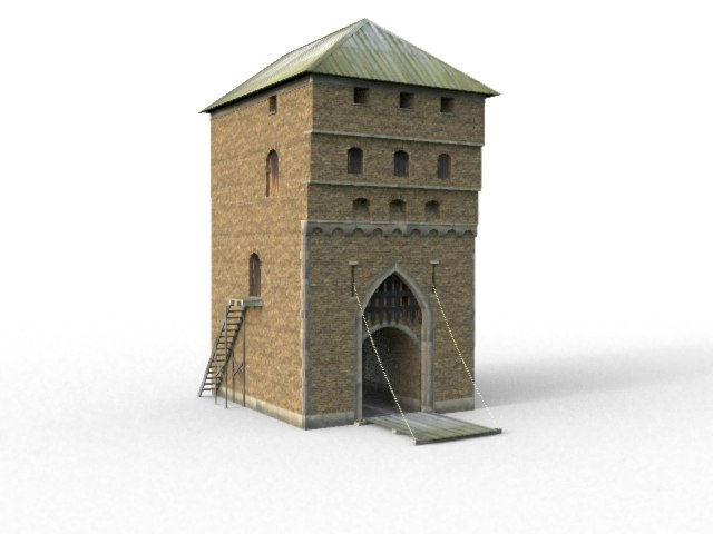 3ds max castle gate