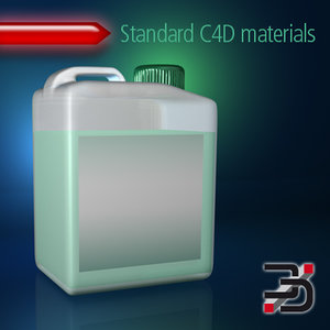 cleaning agent canister 3d model