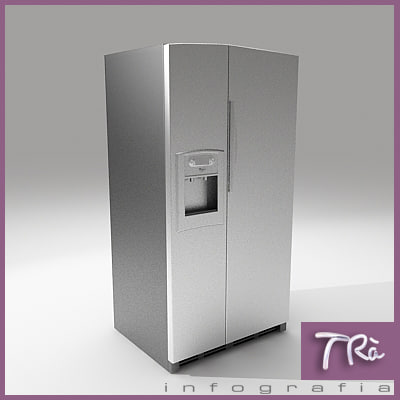 fridge interior 3d model