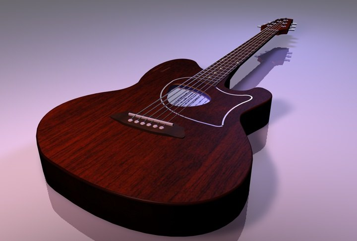 3d model of talman ibanez guitar