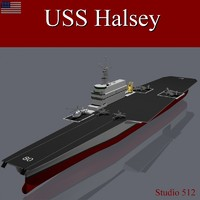 3d model navy supercarrier halsey