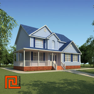 american house 3d model