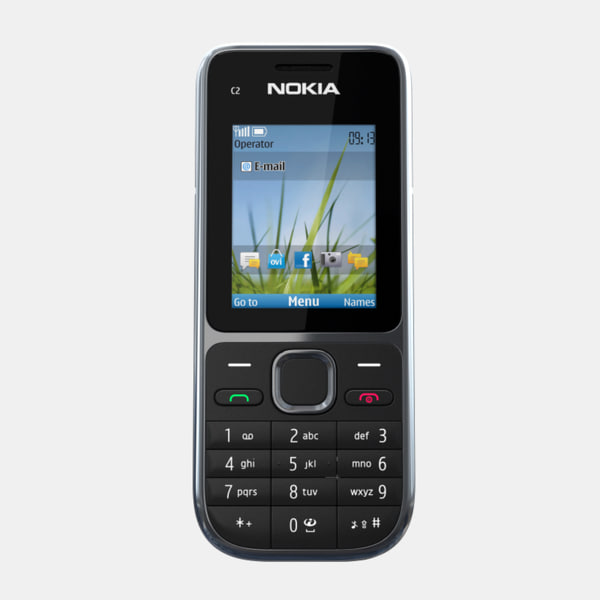 3d model nokia c2-01 mobile phone