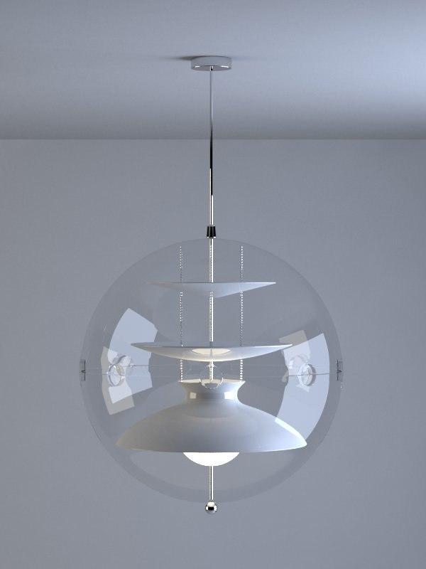 3d model verner panton lamp