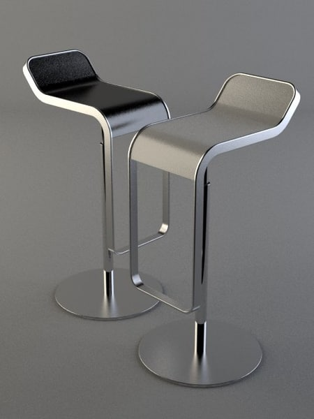 3ds piston bar stool