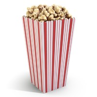 popcorn concession movie 3d model