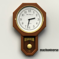 regulator wall clock 3d lwo