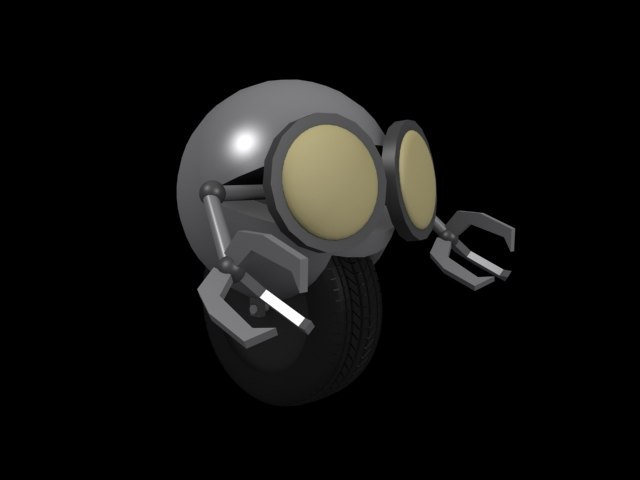 3ds max random spherical robot