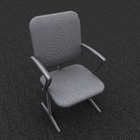 max single chair gray