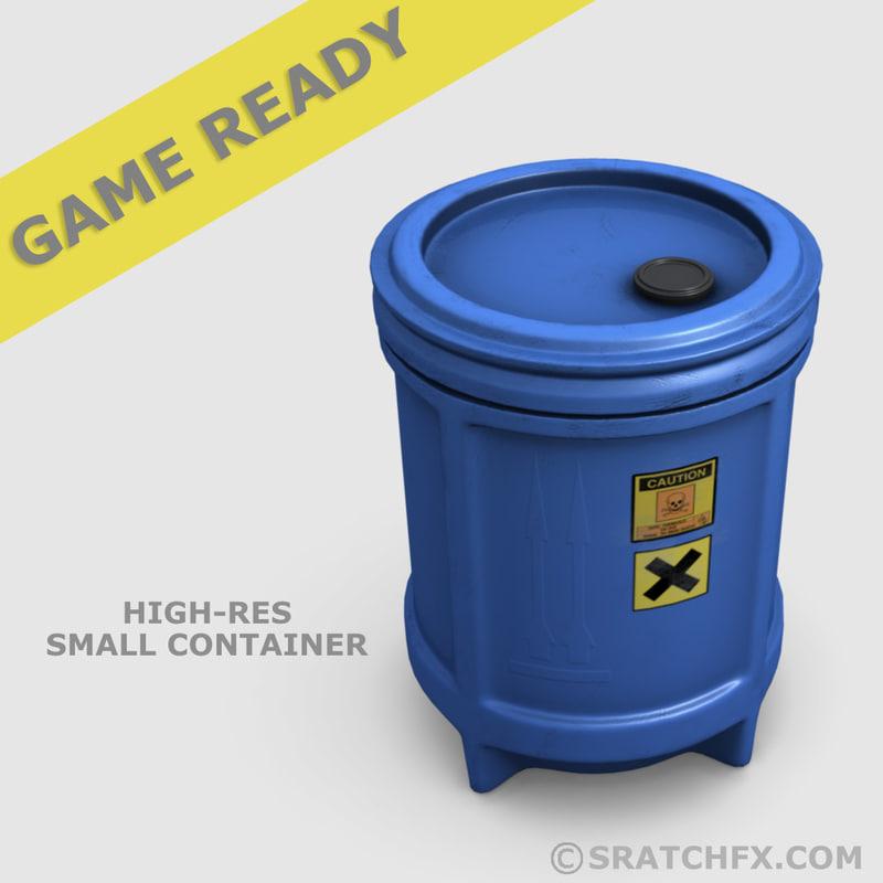 3d small barrel ready model