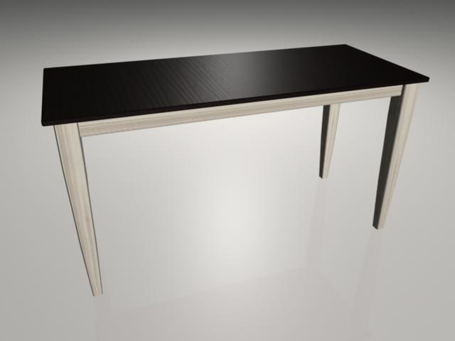 rustic dining table 3d ma
