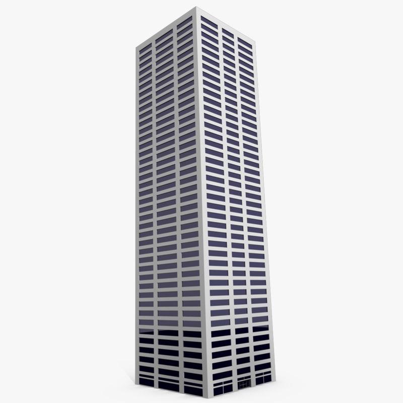 3d tall skyscraper
