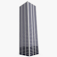 3d tall skyscraper
