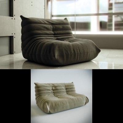 togo sofa 3d model