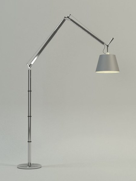 3d model floor lamp tolomeo