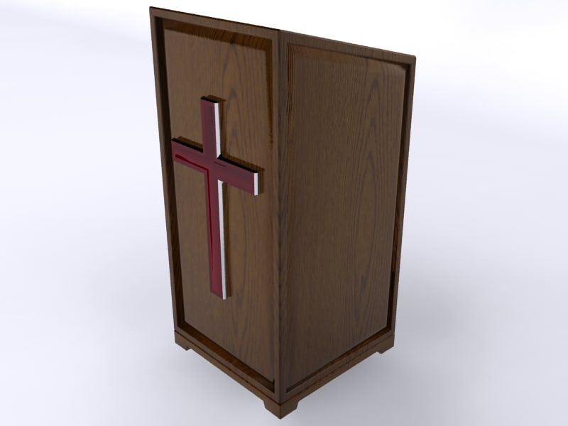 3d wooden pulpit