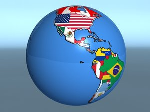 geopolitica earth globe country 3ds