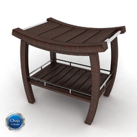 bath bench 3d 3ds
