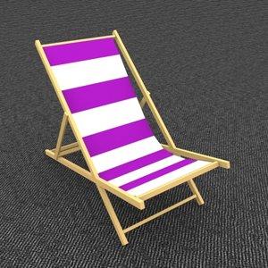 beach chair 3d max