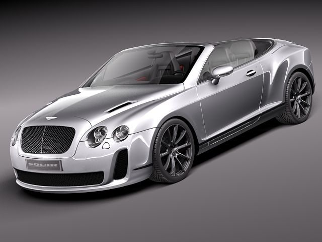 bentley continental supersports super sport 3d model