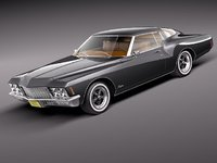 buick riviera gs 1971 3d model
