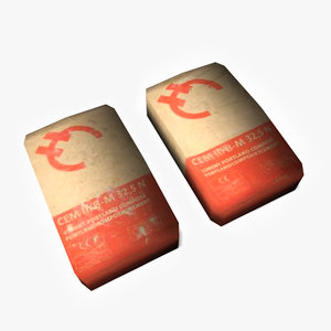 3ds max cement bags