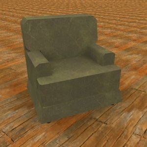 3ds max upholstered chair