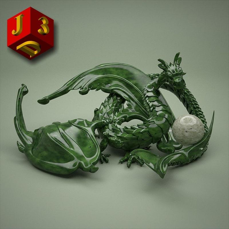 3d dragon original model