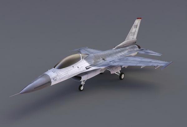 f16 fighter plane 3d max