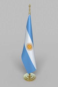 3d model argentina flag