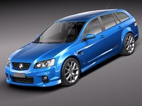 3d model of holden ve ii commodore