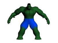 3dsmax rigged morphed hulk