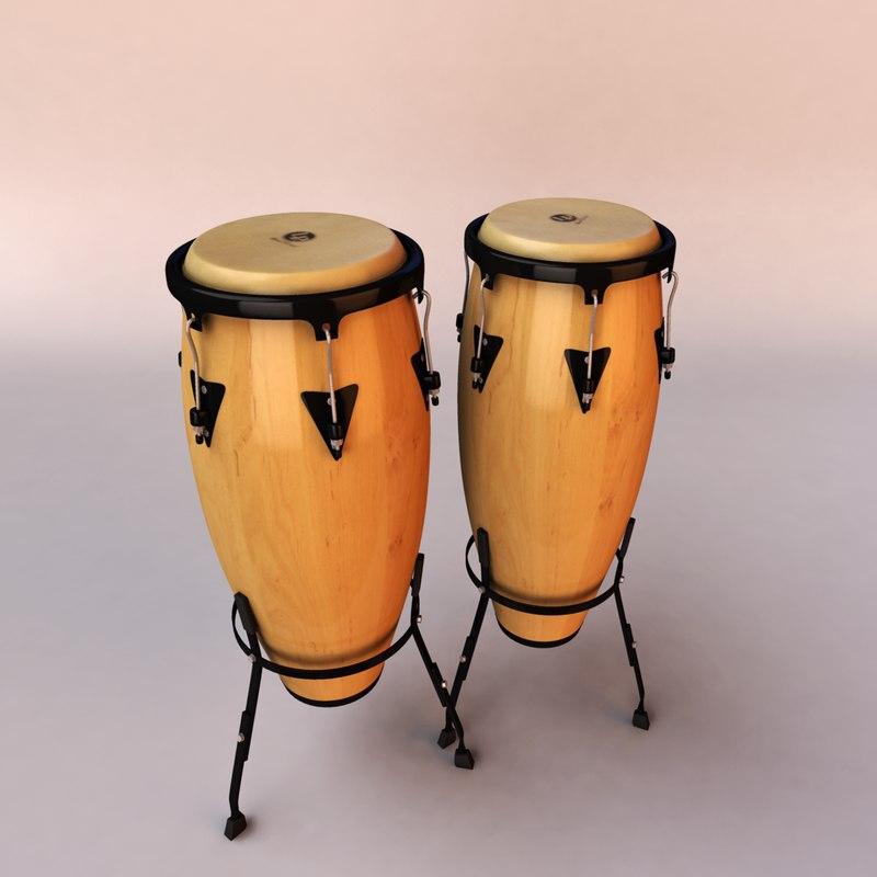 conga percussion 3d max