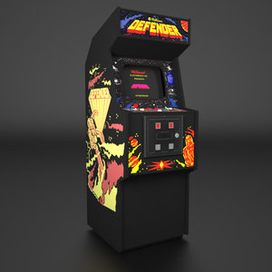 1980 arcade cabinet 3d model