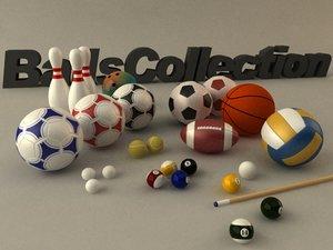 basketball billiard balls 3d max