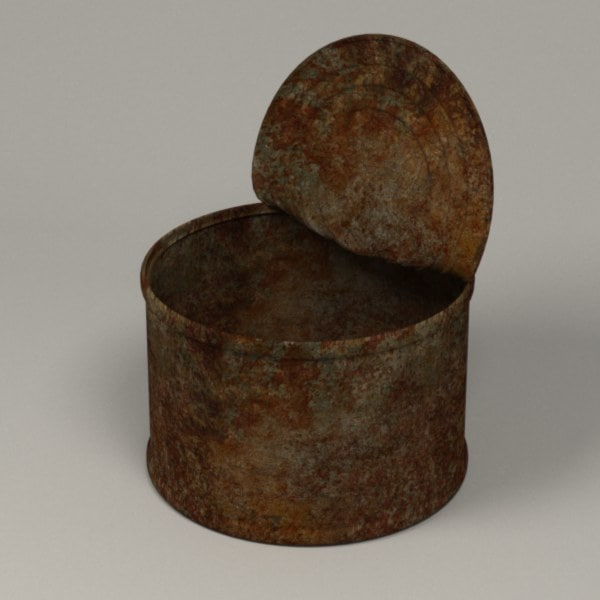 3d obj rusty food