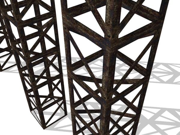 3d uv rusty truss
