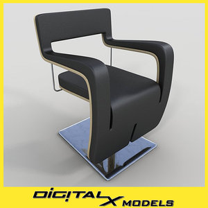 salon chair 3d 3ds