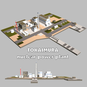 explosion nuclear power plant 3d model