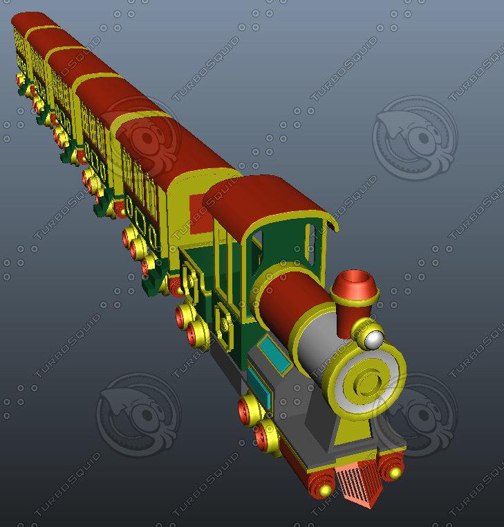 toy train 3d ma