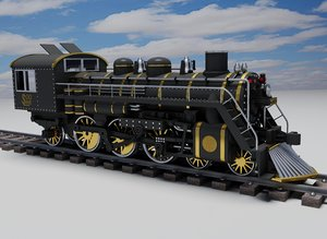3ds max steam locomotive engine