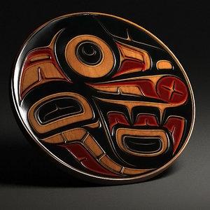 3d model wall decoration aboriginal art
