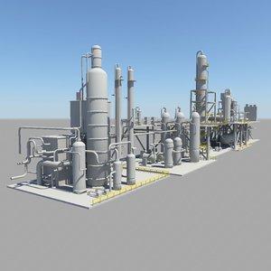 gas treatment 3d model