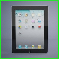 realistic apple ipad 2 3d model