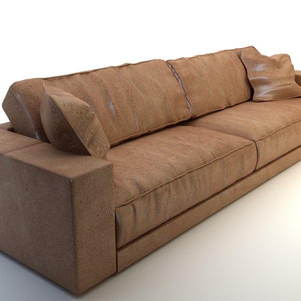 sofa leather long max