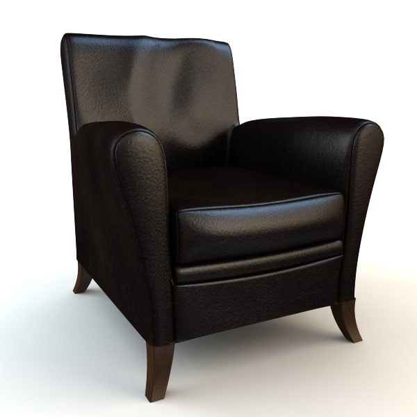 chair armchair black 3ds