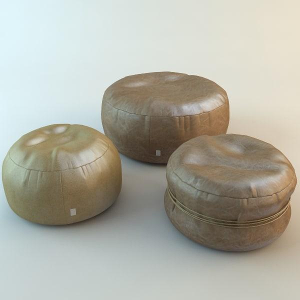 circle pouf busnelli 3d model