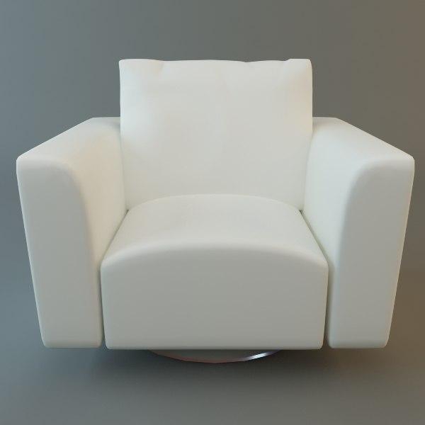 club chair 3d obj